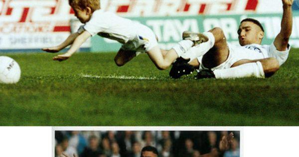 Vinnie Jones tackles the Leeds mascot in a pre-match warm ... Vinnie Jones Football Tackles