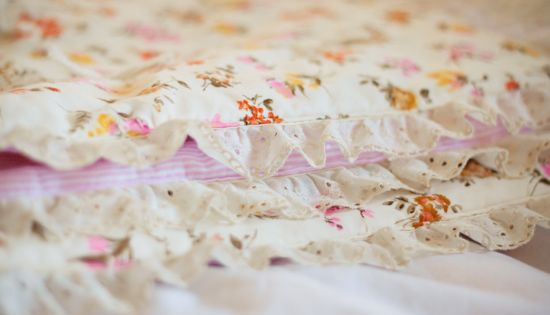 Strawberry Chic: Handmade Vintage Baby Blanket DIY | See more about Baby Blankets, Blanket and Handmade.