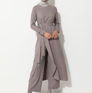 ليلكي تصاميم بطبعات أطقمة Fashion Coat Neck Dress