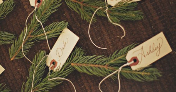 Winter wedding placecards via @Married App for iPhone and Android WinterWeddings