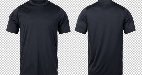 Black Sport T Shirts Front And Back Mock Up Template For Your Design Plain Black T Shirt Shirts T Shirt Design Template