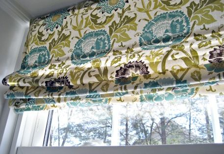 AW No Sew Roman Shade From Mini Blind Blinds