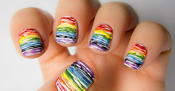 Rainbow nail art! nails manicure