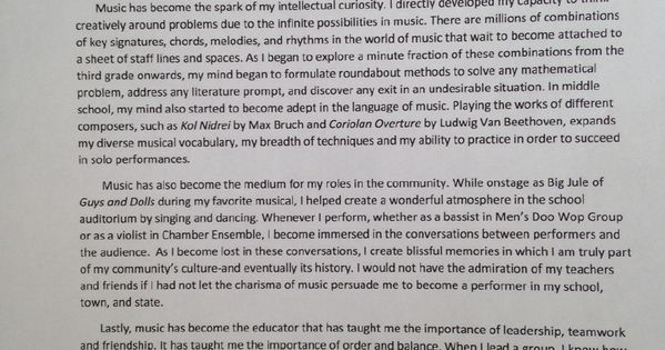essay that got into yale