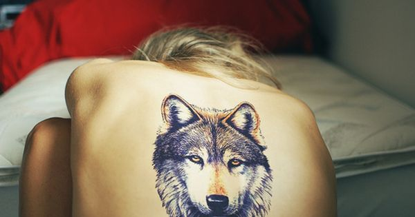Temporary tattoos back wolf head fake transfer spray large tattoo stickers sexy