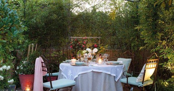 Velas exterior para una cena en el patio terrazas - Velas para terrazas ...