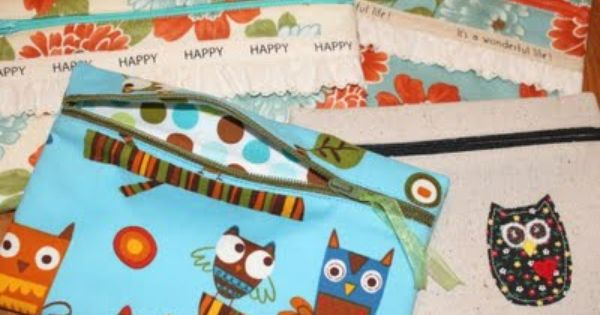 Zippered Knitting Project Bag Tutorial : Zipper pouch tutorial would be great pencil bags for kids