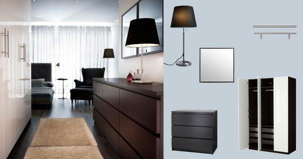 Stunning PAX Kleiderschrank schwarzbraun mit FARDAL T ren Hochglanz weiss und MALM Kommode schwarzbraun Bedroom Pinterest Malm kommode Pax kleiderschrank und