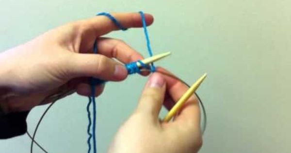 Knitting Zone Cast On For Two Circular Needles : How to provisional cast on for knitting youtube