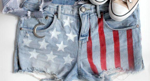 American Flag Shorts DIY blog.freepeople.c...