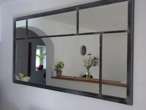 Cadre Miroir Type Atelier Sur Mesure Art Industriel Miroir Industriel Amenagement Interieur Maison Miroir Salle A Manger