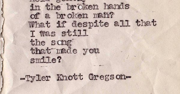 #Typewriter series by Tyler Knott Gregson. poetry love