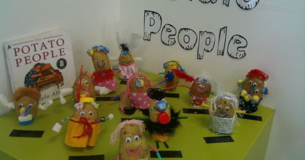 More Potato People You May Need To Zoom In To See Their Details Potato People Potatoes Literacy