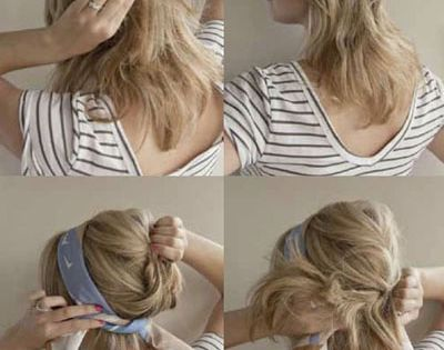 Head scarf hair tutorial cute for hot days