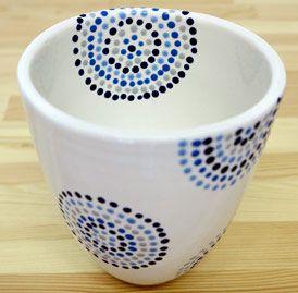 Keramik Selber Bemalen Kundenstucke Keramik Bemalen Keramik Malen Keramikbecher