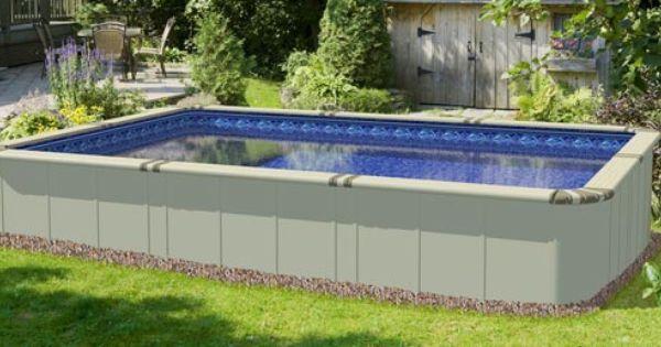 Ez Panel Grand 52 Aluminum Above Ground Swimming Pool Outdoor