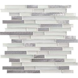 American Olean Morello Mm01 Quartz 5 8 X Linear Glass And Aluminum Metal Tile Strip Stick Mosaic Glass Subway Tile Backsplash Olean Stone Tile Wall