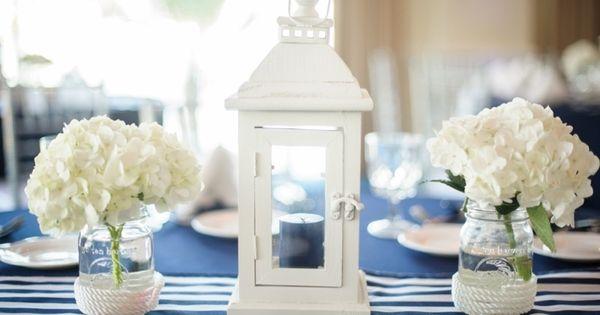 maritime tischdeko mit marmeladengl sern und laternen zuk nftige projekte pinterest deko. Black Bedroom Furniture Sets. Home Design Ideas
