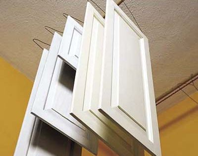 More efficient way of painting cabinet doors. Photo: Brian Wilder | thisoldhouse.com