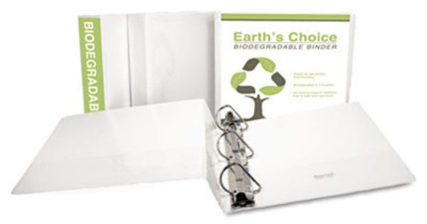 Ecochoice Recycled Angle D Ring View Binder 1 White Set Of 2 Biodegradable Products Binding Covers Recycling