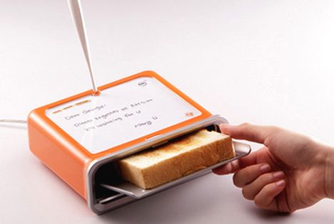 Message toaster imprints messages on your loaf-crazy idea
