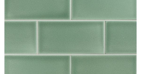Vermeere Ceramic Tile Sage Green Gloss 3 X 6 Subway Tile Green Subway Tile Green Bathroom Ideas Sage Green Tile Backsplash