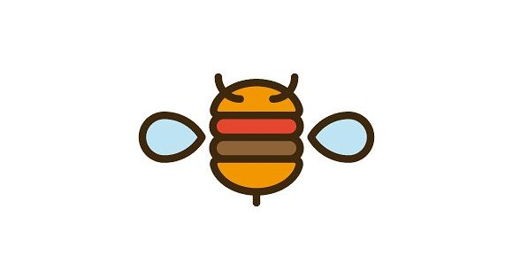 Bee Burger Logo – used in bars and restaurants, in hamburger brands, in hamburger shops, among other uses