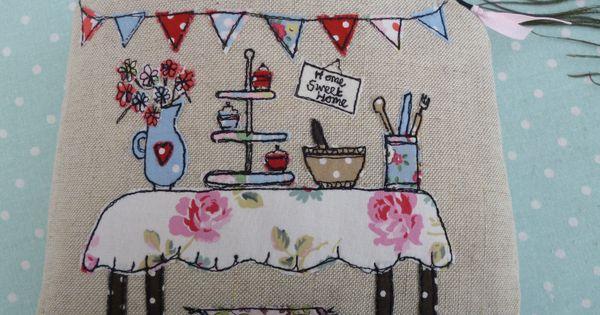 Kitchen Table Applique Free Motion Machining Textile Art