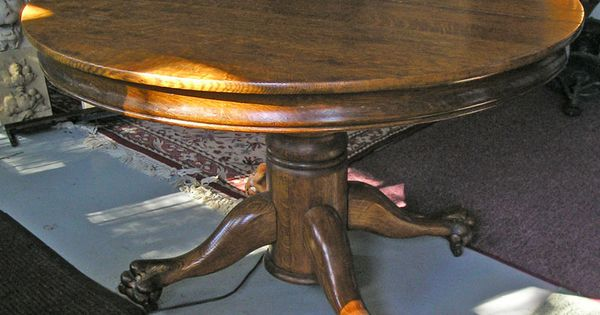 My Tiger Oak Antique Claw Foot Table Thank You Scherer