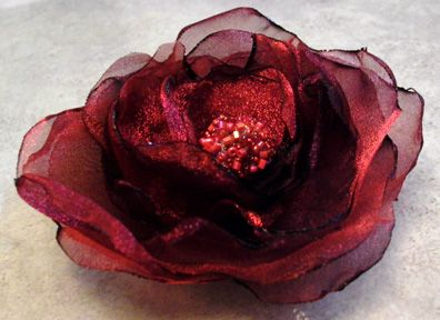 Hand Made Organza Fabric Flower How To Diy Frugal Craft Project