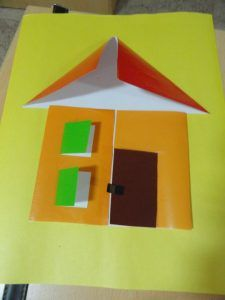House Craft Idea Preschool Crafts Diy Arts And Crafts Arts And