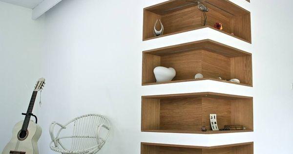 Mezclar esta idea de almacenaje en esquina con armarios - Armarios empotrados en esquina ...
