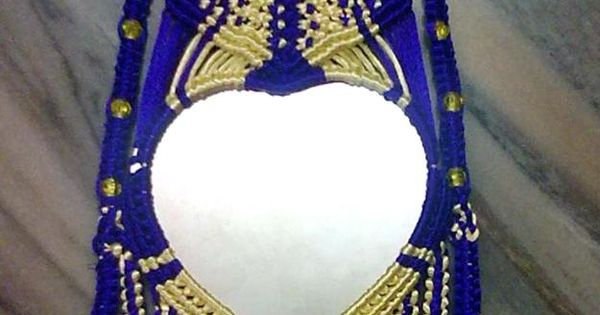 Macrame decorative mirror : MACRAMu00c9 : Pinterest ...