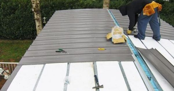 How To Install Metal Roof On A Mobile Home Installing A Metal Roof On A Mobile Mobile Home Roof Remodeling Mobile Homes Mobile Home Exteriors