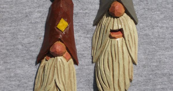 Hand carved handmade hillbilly tree ornament wood carving