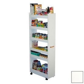 Rack N Cabinets Man Pantry White Rectangular Bakers Rack 4036 11wh