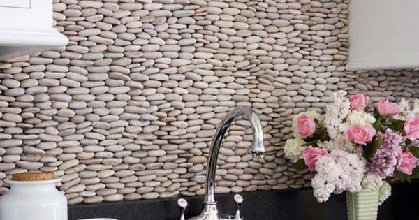 cobblestone-kitchen-backsplash-idea | new house | pinterest
