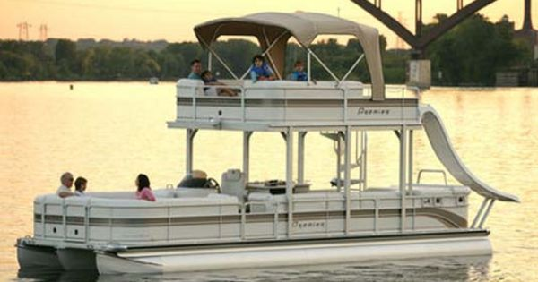 Pin By Nikki Ogaz On Summer Time Pontoon Boat With Slide Pontoon Pontoon Boat