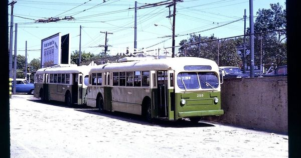 Original Slide Septa Trolley Bus 255 Phila Pa 7 66