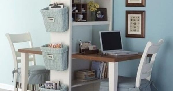 A small space solution for desks. For kids with homework or partners
