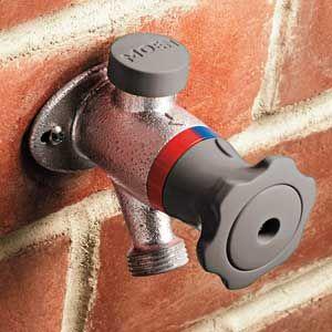 exterior hot water faucet water