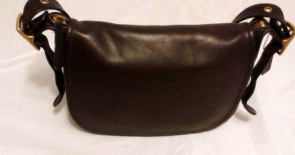 5184e9a52f36 ... Vintage Coach Patricia Dark Brown Leather Shoulder Bag Purse 9951 ...
