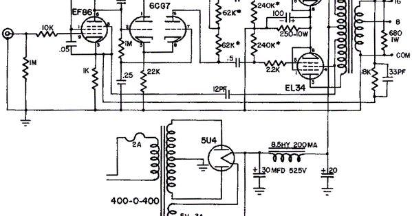 Mullard El34 Push Pull Tube Amp Sch Ma Avec Dynaco A420