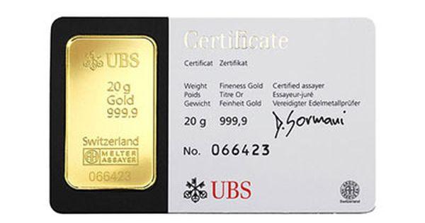 20 Gram Ubs Gold Kinebar Gold Bullion Bars Buy Gold And Silver Gold Bullion