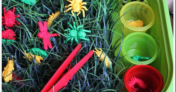 Bugs in the Grass - sweet Spring-time activity to promote sorting, playing,