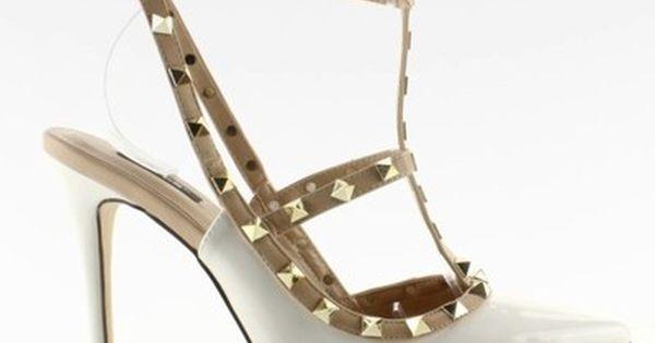 Szpilki Z Cwiekami Valentina 1166 Biale 6753324975 Oficjalne Archiwum Allegro Valentino Studs Stiletto Heels