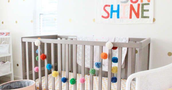 Idée de chambre de bébé pour une petite fille! déco