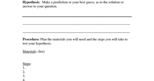 scientific method worksheet 4th grade pdf