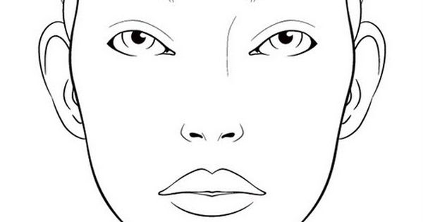 10 blank face charts