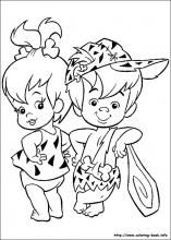 The Flintstones Coloring Pages On Coloring Book Info Disney Coloring Pages Cartoon Coloring Pages Coloring Books